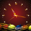 Royalty-Free Stock Vector: Christmas clock