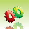 Stock Vector: Vector gears