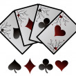 Vector playing cards. — Vector de stock