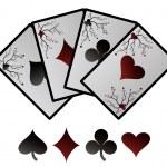 Vector jugando a las cartas — Vector de stock