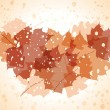 Stock Vector: Vector grunge autumn background.