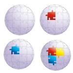 Puzzle globe — Stock Vector #10449407