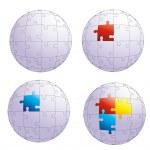 Puzzle globe — Stock Vector