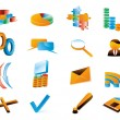 Vector three-dimensional icons. — Stock Vector