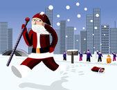 Funny Santa — Stock Vector