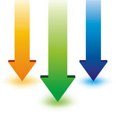 Colorful arrow — Stock Vector