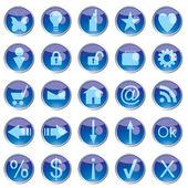 Wektorowe ikony — Wektor stockowy