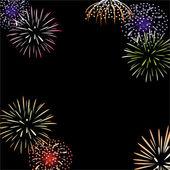 Vector fireworks background — Stock Vector