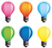 Vector color bulbs. — Stock Vector