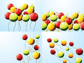 Set of party balloons — Stockvector