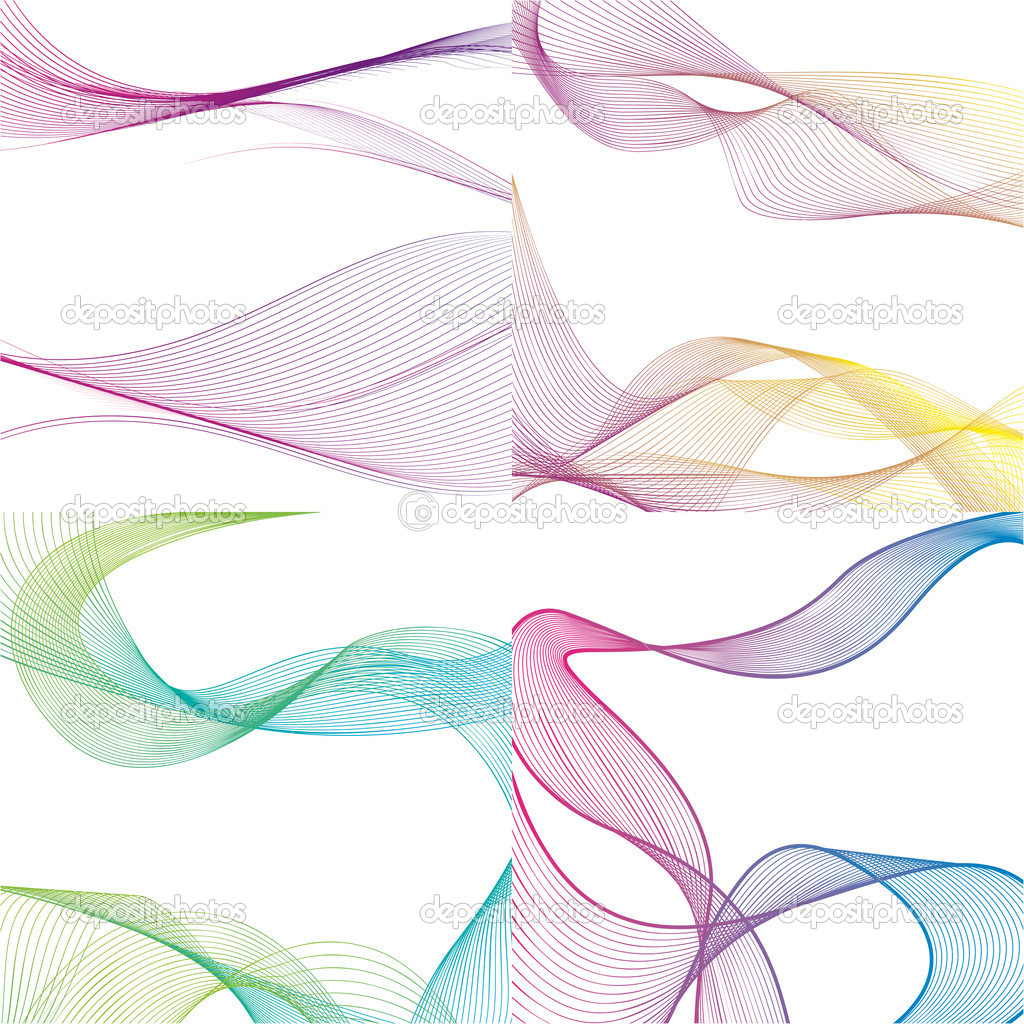 Vector set of abstract backgrounds. — Stock Vector #10449017