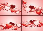 Set of romantic backgrounds — Stock Vector