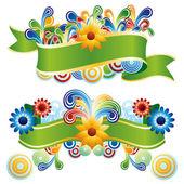 Kreatywnych kwiatowy banery — Wektor stockowy
