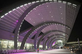 Dubai airport terminal, outdoor building side — Stock Photo