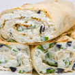 Royalty-Free Stock Photo: Cottage cheese  wrap