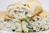 Cottage cheese wrap — Stock Photo