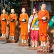 Stock Photo: Monks statue