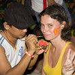 Full moon party - Stock Photo