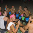 Stock Photo: Full moon party