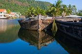 Old wooden boat — Stock Photo