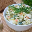 Russian traditional salad olivier — Stock Photo #10633232
