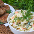 Russian traditional salad olivier — Stock Photo #10633370
