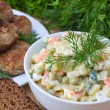 Stockfoto: Russitraditional salad olivier