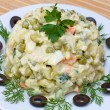 Russian traditional salad olivier — Stock Photo #10633400