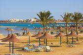 пляж в египте — Стоковое фото