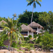 Tropical beach house - Stock Photo