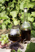 Brandy and chocolates — Stock Photo