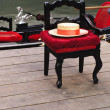 Foto Stock: Gondolier chair in Venice