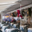 Royalty-Free Stock Photo: Christmas decorations in a restaurant