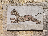 Byzantine mosaic representing a leopard running. — Stock Photo