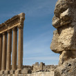 Stock Photo: Six columns of Temple of Jupiter in city of Baalbek