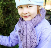 A child wearing a scarf — Stock Photo