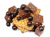 Biscuits and Chocolate — Stock Photo