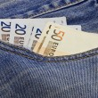 Royalty-Free Stock Photo: Euro in pocket