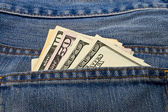 Dollars in pocket — Stock Photo