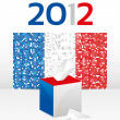 Stock Vector: French Elections 2012