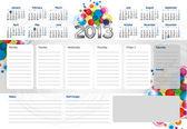 Planner Calendar 2013 — Stock Vector