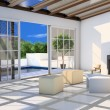 Living-room with terrace and plunge pool — Stock Photo #10364726
