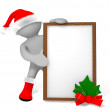 Elf with Christmas frame — Stock Photo