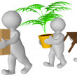 3d men moving house — Stock Photo #10395304