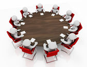 Business meeting at a round table — Stock Photo