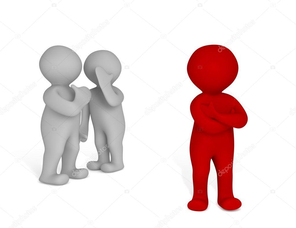 Duas Pessoas 3d Fofocando Fotografias De Stock