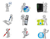 Picture set - global communication concept — Stock Photo