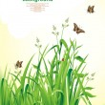 Spring background. Green grass. — Stock Vector