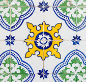 Portuguese azulejo — Stock Photo