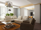 3d render of a modern interior.exclusive design — Stockfoto